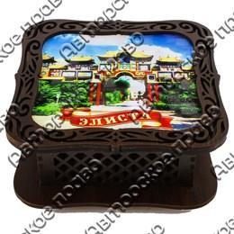 Шкатулка квадратная с видами, достопримечательностями или символикой Вашего города