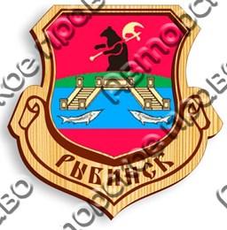 Магнит с гравировкой Герб вид 2 с символикой Рыбинска