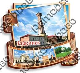Магнитик Фотопленка с символикой города Рыбинск
