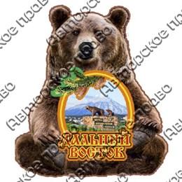 Магнит на холодильник Медведь с рамкой и видами Камчатки