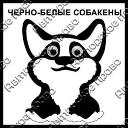 Магнит черно-белый Собакены вид 8