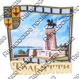 Магнит сувенирный снимок с зеркальным логотипом Тольятти