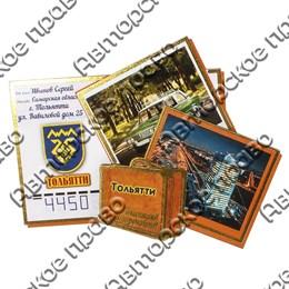 Сувенирный магнит Чемодан с письмами и символикой Тольятти