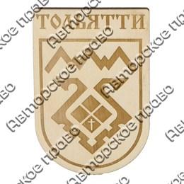 Магнит сувенирный из фанеры Герб с символикой Тольятти