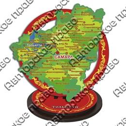 Панно-плакетка полусфера Карта с символикой Тольятти
