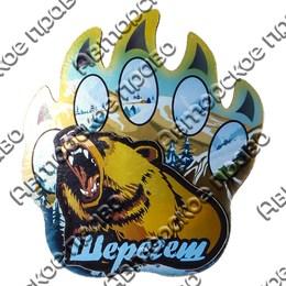 Магнит на холодильник Лапа медведя с символикой Вашего города