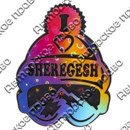 Магнит сувенирный Шапка с символикой Шерегеша