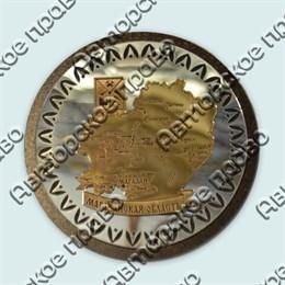 Купить магнитик зеркальный комбинированный золотая карта в круглой рамке