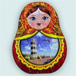 Купить шкатулку сувенирную из дерева Матрешка с видами города 2