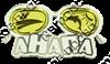 Магнит Очки с комбинированным элементом Линзы с дельфином - фото 36714