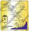 Магнит Карта с видами Вашего города Квадратный зеркальный золото - фото 36737