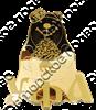 """Магнит зеркальный 1-цветный """"Медведь"""" №4 Уфа золото арт FS000292 - фото 36909"""