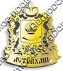 Магнит Герб Вашего города с короной зеркальный золото - фото 36928