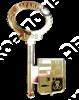 Магнит Ключ Вашего города зеркальный золото - фото 36977