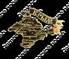 Магнит Карта Вашего региона на ленте зеркальный золото - фото 37003