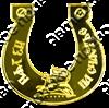 Магнит Подкова Куница с названием Вашего города зеркальный золото - фото 37172