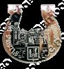 Магнит Подкова с Достопримечательностью Вашего города зеркальный серебро - фото 37191