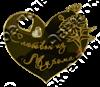 Магнит Сердце Ромашки с названием Вашего города зеркальный золото - фото 37200