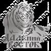 Магнит Тигр с названием Вашего города зеркальный серебро - фото 37224