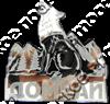 Магнит Волк 1 с названием Вашего города зеркальный серебро - фото 37270