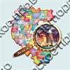 """Магнитик """"Карта с лупой"""" №2 Абзаково  - фото 5086"""