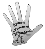 """Магнит зеркальный 1-цветный """"Ладонь-Привет с"""" Камчатка - фото 53306"""
