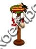 """Магнит качели № 18 """"Ворона и кот с зеркальной фурнитурой и логотипом Вашего города"""" - фото 53384"""
