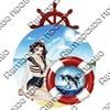 Магнит с подвижной деталью Девушка со спасательным кругом и логотипом города арт 2577 - фото 53535