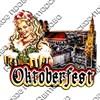 Магнит 3-хслойный Девушка с кружками и символикой Oktoberfest - фото 53537