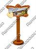 Магнит 1-слойный Фигурный свиток с зеркальной фурнитурой с символикой Вашего города - фото 53575