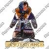 Магнит 1-слойный Этно девочка с зеркальной фурнитурой с символикой Вашего города - фото 53629