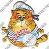 Магнит 1-слойный Кот в тельняшке с зеркальной фурнитурой с символикой Вашего города - фото 53714