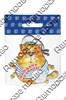 Магнит 1-слойный Кот в тельняшке с зеркальной фурнитурой с символикой Вашего города - фото 53715