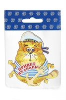Магнит 1-слойный Кот в тельняшке с зеркальной фурнитурой с символикой Вашего города - фото 53725