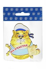 Магнит 1-слойный Кот в тельняшке с зеркальной фурнитурой с символикой Вашего города - фото 53729
