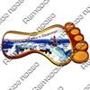 Магнит 1-слойный След с видами Вашего горнолыжного курорта - фото 53770