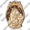 """Магнит с янтарем """"Медведь привет с Вашего города"""" - фото 54341"""