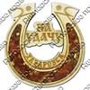 "Магнит с янтарем ""Подкова на удачу"" с символикой Вашего города - фото 54356"