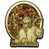 "Магнит с янтарем ""Рыбак на медведе"" с символикой Вашего города - фото 54378"