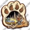 Магнит 2-хслойный Лапа тигра с видами Вашего города вид 1 - фото 54442