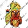 Магнит 2-хслойный Медведь с подвижными глазками и картой с символикой Вашего города - фото 54448