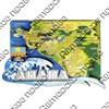 """Магнитик 2-хслойный """"Карта с зеркальной фурнитурой"""" с символикой Вашего города - фото 54456"""