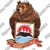 Магнитик 2-хслойный Медведь с гербом с символикой Вашего города - фото 54499