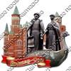 """Магнит 2-хслойный """"Достопримечательности на ленте"""" с символикой Вашего города - фото 54515"""