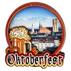Магнитик 2-хслойный Oktoberfest с символикой Вашего города - фото 54528