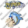 Магнит качели Логотип Вашего города с дельфином и зеркальной фурнитурой - фото 54578