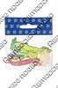 Магнит 1-слойный Карта Вашего региона на ленте с достопримечательностями Вашего города - фото 55152
