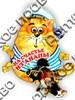 Магнит 1-слойный Кот в тельняшке с зеркальной фурнитурой с символикой Вашего города - фото 55208