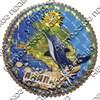 Панно 4-хслойное цветное 20 см Карта с символами Вашего города - фото 55733