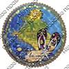 Панно 4-хслойное цветное 20 см Карта с символами Вашего города - фото 55734